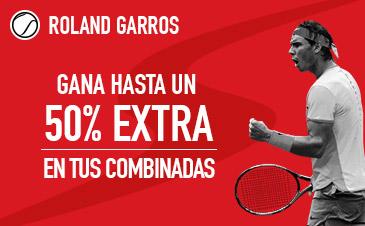 Sportium Roland Garros 50% extra combinadas