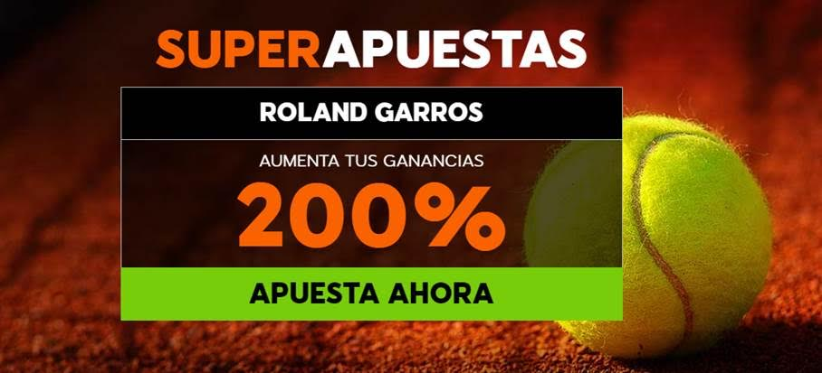 Supercuotas 888 sport Roland Garros aumenta tus ganancias 200%