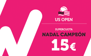 Wanabet Supercuota Nadal Campeon US Open a 15.00