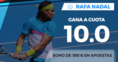 Supercuota Paston Rafa Nadal gana a cuota 10.0