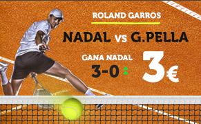 apuestas de tenis Supercuota Wanabet Roland Garros Nadal vs G. Pella