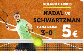 Supercuota Wanabet Roland Garros Nadal vs Schwartzman